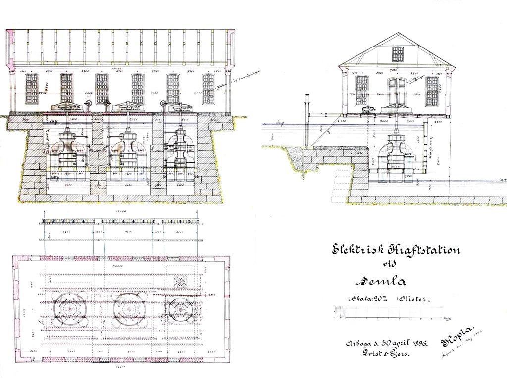Ritning Semla 1, byggår 1897