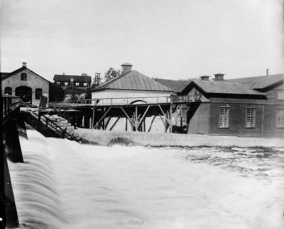 Grafitverket till höger på bilden, foto från omkring 1900