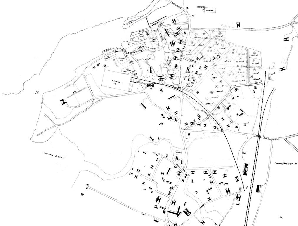 Karta över Västanfors från ca 1900